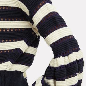 5ae08a3d6817 Self-Portrait Sweaters - Self-Portrait Balloon Sleeves Striped Sweater NEW!